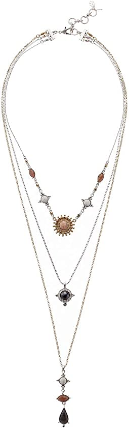 Set Stone Pave Layer Necklace