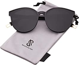 SOJOS Fashion Round Oversized Sunglasses for Women Men Vintage Shades SJ2057