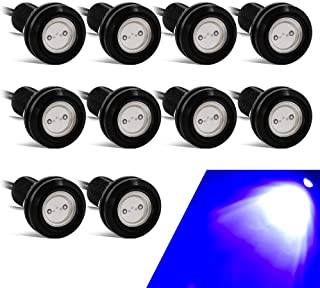 10PCS Alto Poder 18mm 9W Luz de ojo de águila Luz LED Para Automóvil Moto Luz Diurna Eagle Eye DRL Luces de Marcado (Azul)