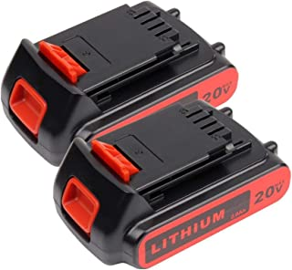 2PACK LBXR20 Battery 2.5Ah Replace for Black and Decker 20V Battery Max Lithium LB20 LBX20 LST220 LBXR2020-OPE LBXR20B-2 LB2X4020 Cordless Tool Battery