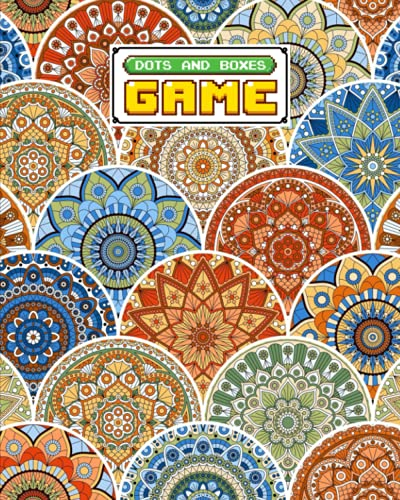 """Dots And Boxes Game: Premium Mandalas Cover Dots And Boxes Game, A Classic Strategy Game - Large and Small Playing Squares, 120 Pages, size 8"""" x 10"""" by Michel Fritz"""