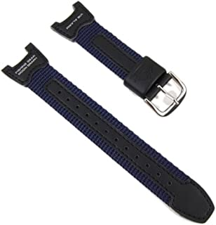 Casio Watch Strap watchband Leather/Textile Band for Gents PRS-400B-2
