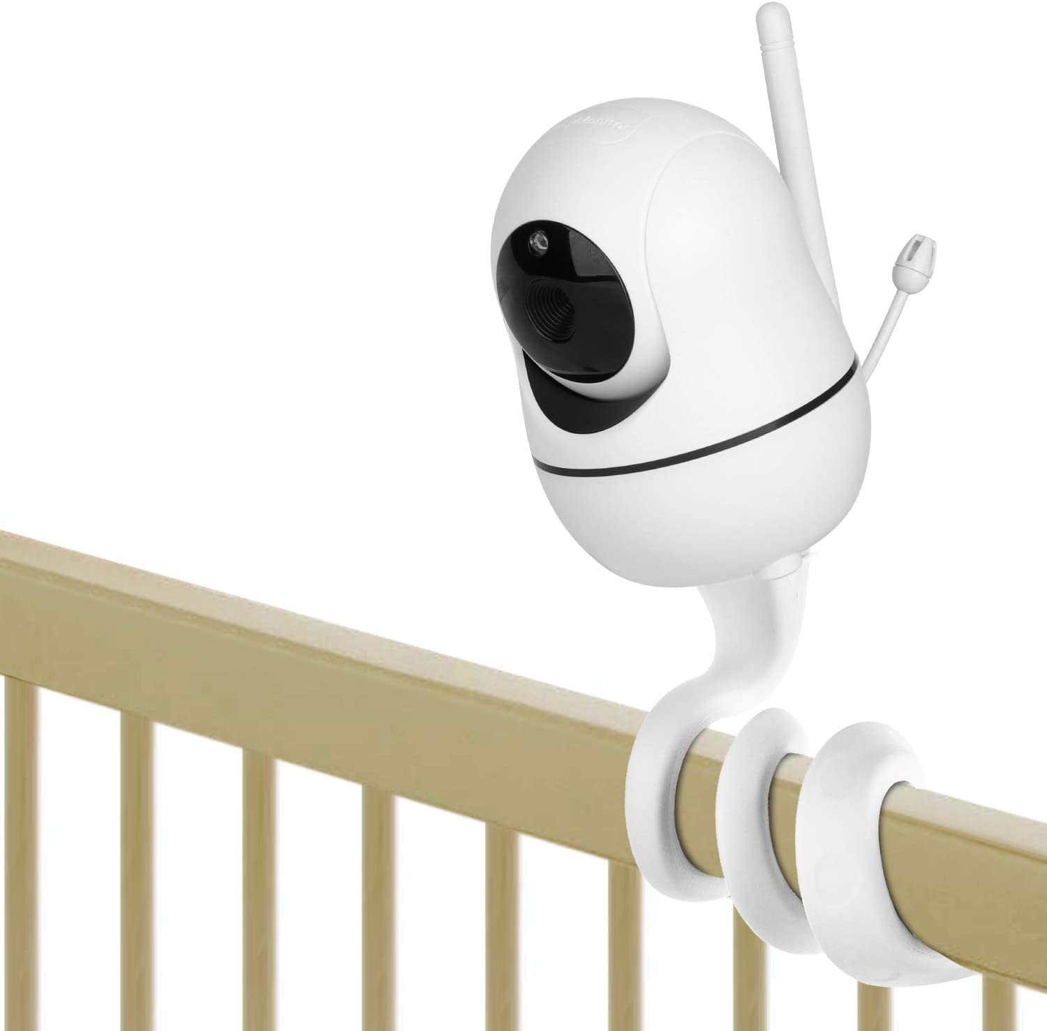 iTODOS Baby Monitor Mount for HelloBaby HB65/HB66/HB248,ANMEATE SM935E Baby Monitor Camera, Versatile Twist Mount Without Tools or Wall Damage -- Grey