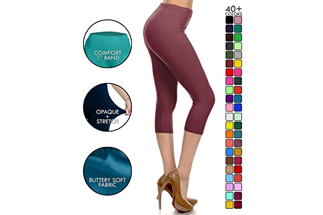 641b0b8b6e Leggings Depot High Waisted Capri Leggings - Soft   Slim - 37+ Colors