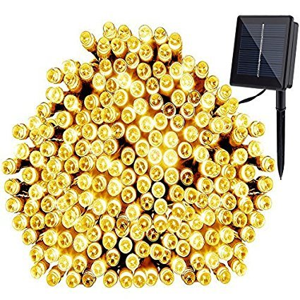 GDEALER Solar String Lights 72 200 LED Solar White Solar Powered Waterproof Starry Fairy Outdoor String Lights Christmas Decoration Lights for Garden Path, Party, Bedroom Decoration (1)