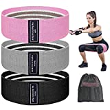 VoMii Fabric Booty Resistance Bands Set for Women Butt and Legs, Workout Bands for Glute & Hip Training, Anti Slip & Roll, Fitness Bands, Heavy Elastic Exercise Bands for Working Out Home/Gym[3 Pack]