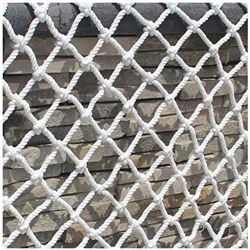 Escalada al aire libre barandilla de seguridad neto de protección infantil cuerda de nylon blanco Net Net Protector solar duradero 2x3m 4x5m for decoración de jardín Red Cat cuerda neto Kinder juegos