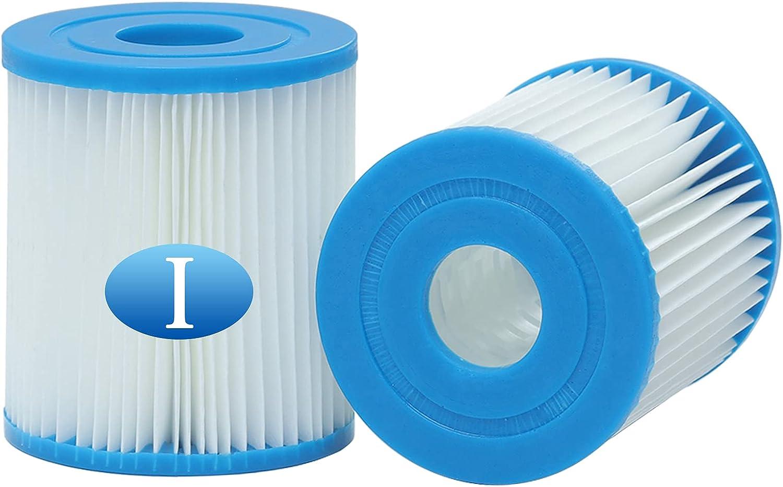 woejgo Cartucho de filtro de piscina tipo I para Bestway, tamaño 1, cartucho de filtro de piscina, repuesto para filtro de spa, 2 unidades