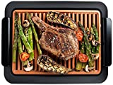 Gotham Steel Smokeless Grill Indoor Grill Ultra Nonstick Electric Grill – Dishwasher Safe Surface, Temp Control, Metal Utensil Safe, Barbeque Indoors with No Smoke!