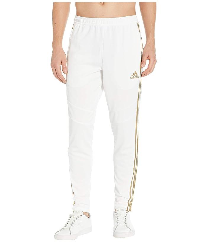 adidas Tiro '19 Pants (White/Gold Metallic) Men's Workout