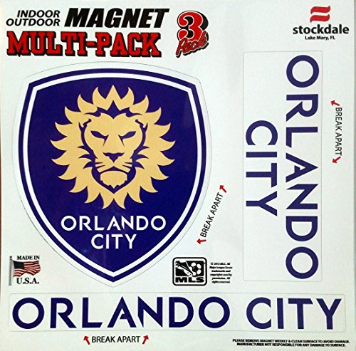 Orlando City SC Lions MULTI Vinyl Auto Home Magnet 8
