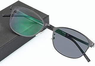 ZTM Bifocal Reading Glasses with Photochromic Transition, Oval Flat Frame Sunglass Sunglasses, UV400,Black,+300