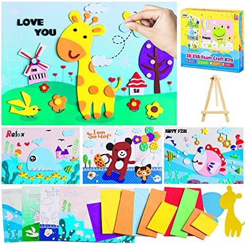 ZMLM Foam Art Craft for Girls: DIY Craft Supply Kids Preschool Art Sticker Handmade Toddler Toy Creative Project 3D…