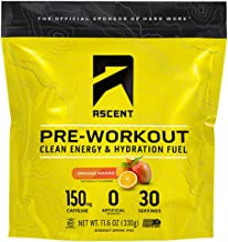 ASCENT Orange Mango Pre-Workout Hydration Fuel, 0.39 OZ