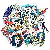 BAIMENG Wonder Woman League Sticker Valigia Valigia Skateboard Casco Tide Impermeabile Car Car Sticker 20 Pz