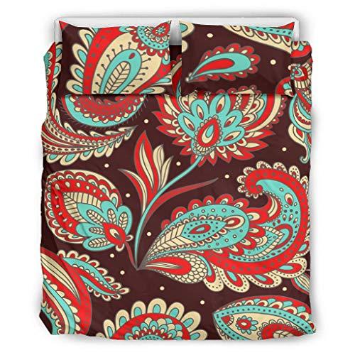 Wusuowei Juego de funda de cama de flores de mandala, almohada de apoyo lumbar, almohada lavable en la cintura, almohada desmontable para descansar en cama