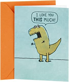 Hallmark Shoebox Funny Love Card, Anniversary Card, Birthday Card, Sweetest Day Card (T Rex Arms)