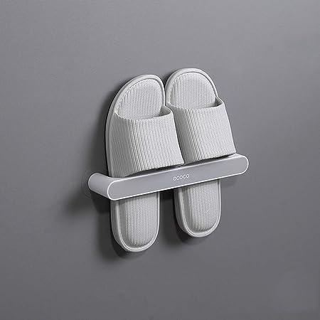 Bestenrose バスルームスリッパ 壁掛けタイプの壁靴に神器を収納 トイレのスリッパ掛け トイレの物置台 (灰色, ショート26.5cm)