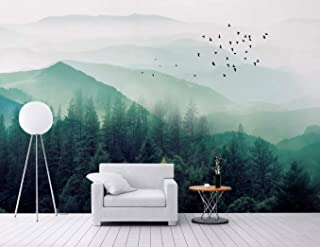 Murwall Forest Wallpaper Landscape Wall Mural Misty Jungle Wall Decor Modern Cafe Wall Decor Living Room Bedroom Entryway