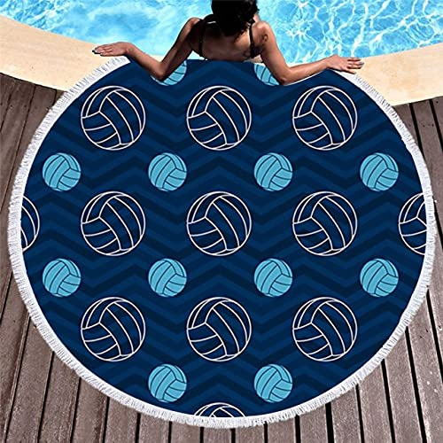 IAMZHL Toalla de Playa Redonda de Microfibra de 150 cm, Manta de Picnic, Deporte al Aire Libre portátil, Regalo para niños, Estera de Yoga-a4-150x150cm