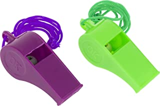 OFXDD Loud Coach Whistle - Pack of 2 - Plastic Professional Sport Whistle - Coaches Lanyard Whistle