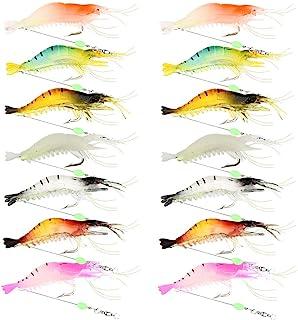 Force Ten Soft Plastic Scented Prawn Lure Fishing Soft Plastic Hook Shrimp Halo