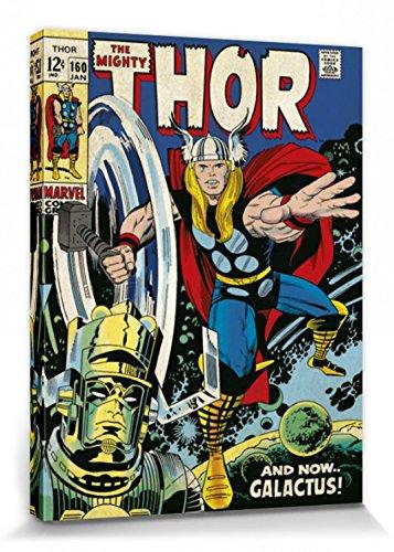 1art1 Thor - Galactus Cuadro, Lienzo Montado sobre Bastidor (40 x 30cm)