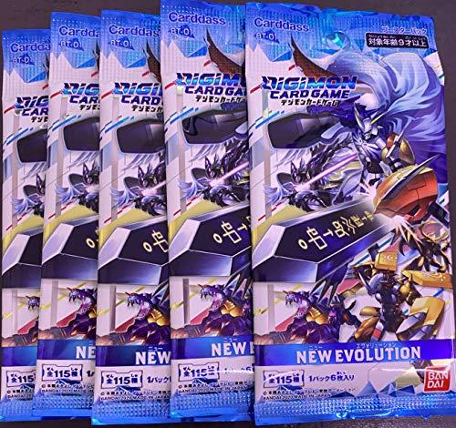 Digimon Card Game Booster New Evolution [BT-01] 5 Pack Set Japanese