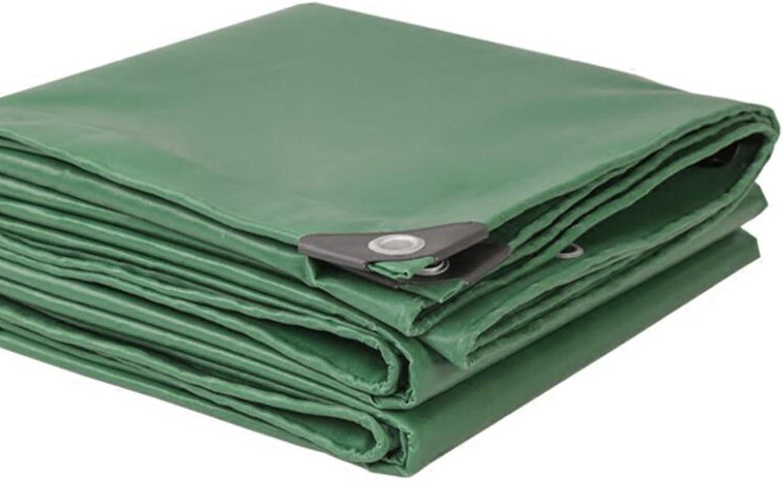 Zr Outdoor Thicker Tarpaulin\Canvas\rain Cloth\PVC Plastic Cloth\Shadow Cloth\Waterproof Sunscreen Tarpaulin\Canopy Cloth 500g\m2(Thickness 0.42MM) (color   ArmyGreen, Size   45m)