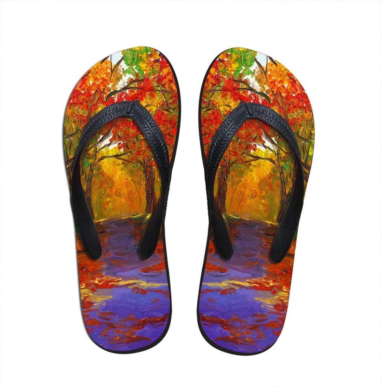MEIZOKEN Women Hand-Printed Sandals Summer Soft Rubber Beach Slippers Women Fashion Casual Flats Flip Flops