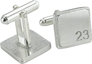 Square Cufflinks with '23' Engraved - 23rd Anniversary