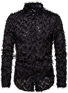 Xmiral Mäns skjorta handgjord långärmad skjorta av fjäder med slag prestandadräkt