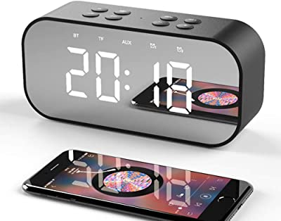 Warm Heart Reloj De Alarma del Estudiante Audio De Bluetooth Mudo Dormitorio Creativo Reloj De Cabecera