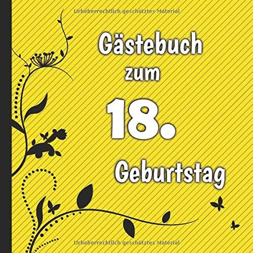 Gästebuch zum 18. Geburtstag: Gästebuch in Rot Blau und Weiß für bis zu 50 Gäste | Zum...
