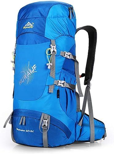 DSHWB Sac à Dos d'alpinisme Sac à Dos pour randonnées en Plein air de Grande capacité 65L + 5L