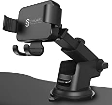 Syncwire Car Phone Mount, Gravity Automatic Locking Universal Dash & Windshield Car Mount Phone Holder for iPhone, Samsung, Moto, OnePlus, LG and More (Washable Strong Sticky Gel Pad)