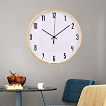 Clock - Modern And Simple, Creative Fashion, Travel Time Accurately, Copper Shell, Mute Scanning, Bedroom Living Room Hang...