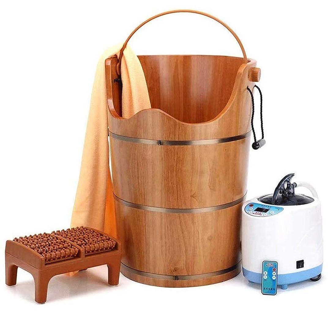 乗り出す昇進反発するWL-足浴槽、木製足盆地タブバケットのフットバス、マッサージ、スパ、サウナ、浸し、足浴木製バケツフットスパ世帯洗面