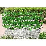 Seto Artificial Gardentrellis, Flor De Seda Extensible Retráctil/Decoración De Valla De Hojas, Pantalla De Sombra De Privacidad para Balcones, Jardín, Patio,B,L