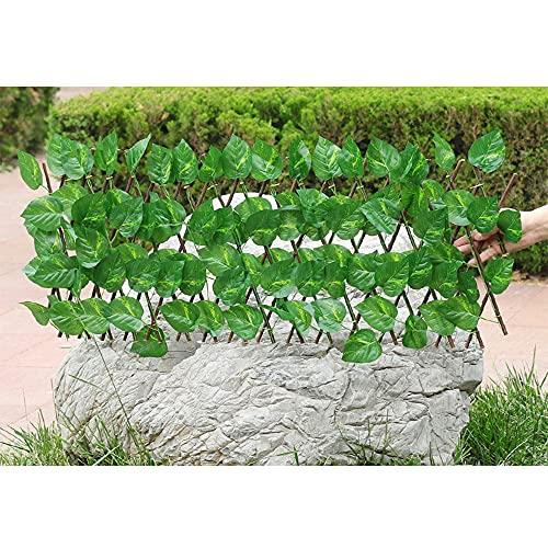 Seto Artificial Gardentrellis, Flor De Seda Extensible Retráctil/Decoración De Valla De Hojas, Pantalla De Sombra De Privacidad para Balcones, Jardín, Patio,B,S