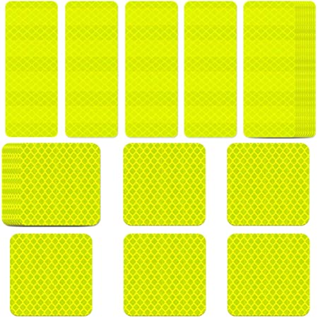 Hi-Vis Reflective Random Shapes Stickers Tag Night Safety Helmet Bag Cycling UK
