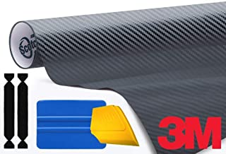 3M 1080 Carbon Fibre Anthracite Air-Release Vinyl Wrap Roll Including Toolkit (6ft x 5ft)
