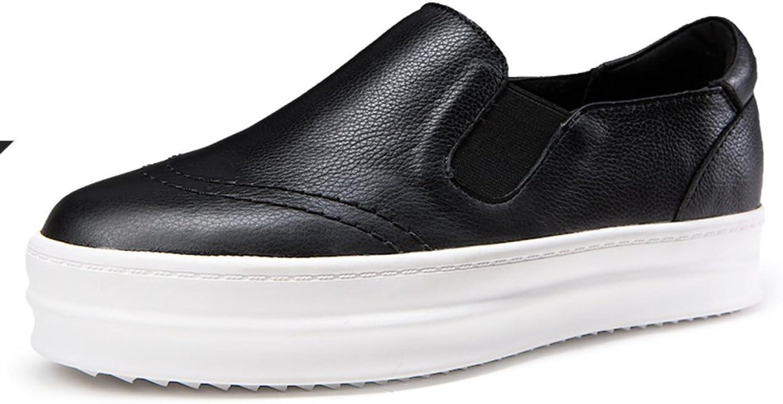 WLJSLLZYQ Fall Winter Fashion Platform shoes Platform high shoes Low-Cut Women shoes Lok Fu Sets Foot shoes Flat Heel Thin shoes