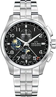 DELMA - Klondike moonphase Reloj para Hombre Analógico de Cuarzo con Brazalete de Acero Inoxidable 41701.680.6.032