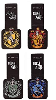 """""""Ata-Boy Harry Potter Houses of Hogwarts Crests Set of 4 1"""""""" Magnetic Page-Top Bookmarks"""",""""1"""""""" x 1.5"""""""""""" (12202HP)"""