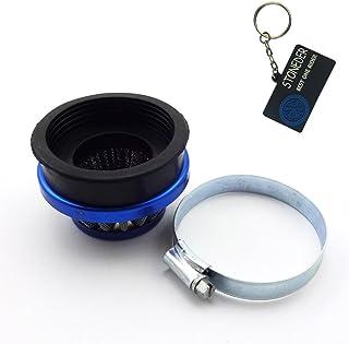 Sconosciuto Filtro dellAria Universale in Schiuma per Moto Pit Quad Dirt Bike ATV Buggy 45 mm Blue