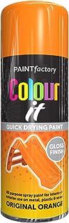 All Purpose Orange Gloss 400ML - Professional Satin Finish Spray Wood Color Paint