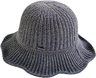 Snowlike Women's Basin Hat Warm Fisherman Hat Vintage Solid Color Wool Hat Simple Knit Hat Fashion Casual Sun Hat