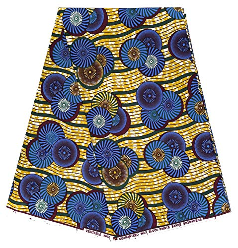 Wax PAGNE Tissu Africain Collection Type « Soft Coton » Coupon 6 Yards réf KP