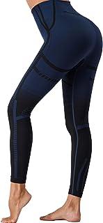 DODOING Kvinnor sömlösa yoga leggings hög midja gym leggings fitness träning löpning sport leggings magkontroll kompressio...